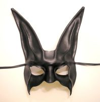 Black Rabbit Leather Mask by teonova