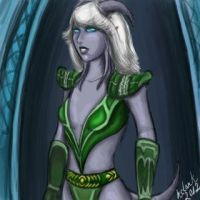 Veveli in green armor by hclark