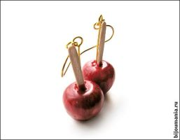 Earrings Candied apples by allim-lip
