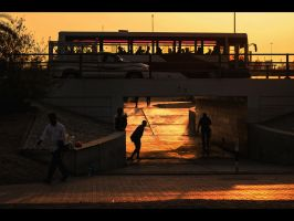 Sunset Underpass by MARX77