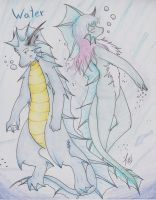 Water Type Dragons by Dragon-Wish