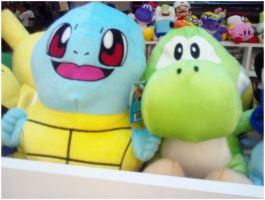 Yoshi and Squirtle by KazePhotos
