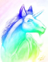 My Rainbow Unicorn by WendysKaleidoscope