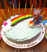 Rainbowdash Cake by Pippin-chan