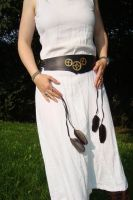 Steampunk leather belt by rain2shine