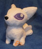 White Fox Plush by kiashone