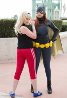 Wondergirl and Batgirl by hanabari-sakuya