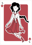 Adventure Time Style Camelia - Three of Hearts by catiniata