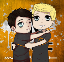 xPeke and Rekkles by DarkyFTW