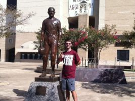 Me and the 12th Man statue by RarityLuver214