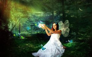 white fairy angel by roup14