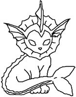 Vaporeon MS Paint Lineart by xerox345