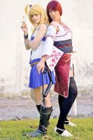 Lucy and Erza Fairy Tail cosplay by xRika89x