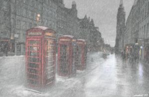 White Phonebox by justanotherdood