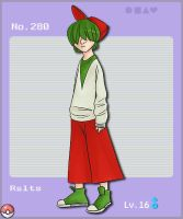Pokemon 280: Ralts by french-teapot