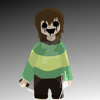 Chara Scary face by TheAnimeKittehART