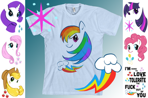 My Little Pony: T-shirt Designs by LittleMeesh
