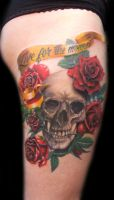 skull roses by laplastique