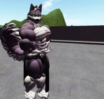 Vash: Husky Muscle form by 1988Wolf