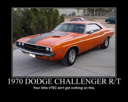 1970 Dodge challenger poster by jedijaffy14