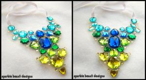 Cool Color Rhinestone Necklace by Natalie526