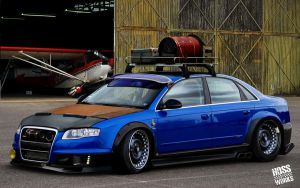 Audi RS4 Crazy Style by Hossworks