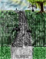 Graveyard with poem by Xan-Salstone