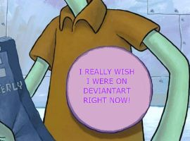 You May Notice Squidward's Button by NickelodeonLover
