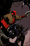 Hellboy vs Alien by PressureDeath
