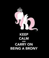 Keep calm and carry on being a brony - Fluttershy by MissPolska