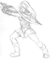 Fierce Deity Link stance by Particularlyme