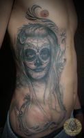 Santa Muerte La Catrina by 2Face-Tattoo