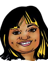 Face caricature c 043013 by raccoon-eyes