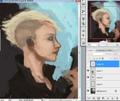 portrait of a girl WIP by DStraX