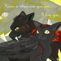 Home is where-ever you are.. by Saborcat