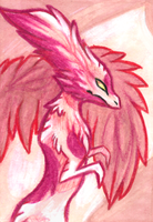 Pink Creature ACEO by LetheDreamer