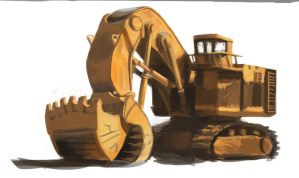 Land mover study by Infernomonster