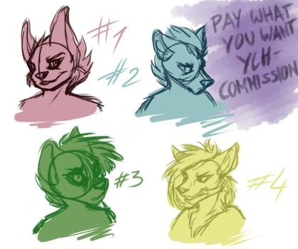 pay what you want YCH (headshot) - closed by Andihoernchen