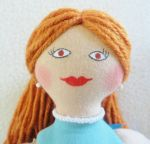 Redheaded Ballerina Doll close-up by JoellesDolls