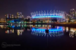 Night at BC Place Stadium by sweetcivic