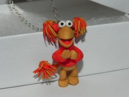 Red, Fraggle Rock Character, TV Show Inspired neck by Secretvixen