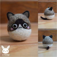 Felted Snowshoe Siamese by xxNostalgic