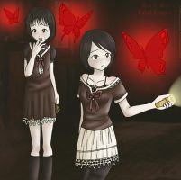 Mio and Mayu - Fatal Frame II by RennaRevelin