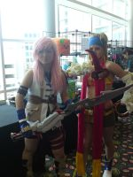AM2010 Lightning and Rikku by L-Angelo15