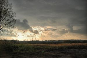 Cloudy sunset :) by boczek