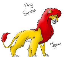 Simba in more realistic style by TigaLioness
