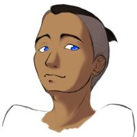 Sokka sketch by dragonaeve