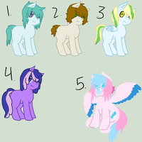 Discounted Adoptables by ponyboogers