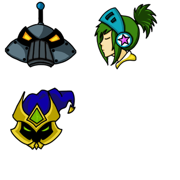 Riven, Blitzcrank and Veigar Icons by RudiBH
