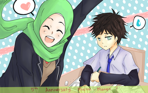 happy 5th anniversary muslim manga!! by akunohime01